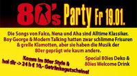 80s Party & 3 Mäderl Haus