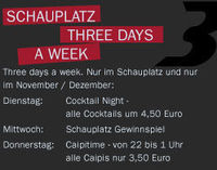 Three days a week - Gewinnspiel
