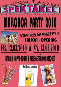 1. Mallorca Party  - Saison Opening