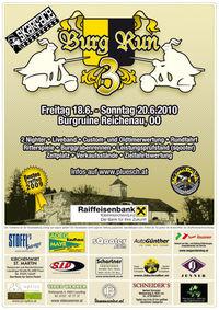 3. Burgrun des 1. Linzer Vespaclubs@Burgruine Reichenau i.M.