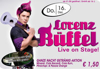 Lorenz Büffel live on stage