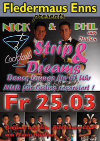 Cocktails, Strip & Dreams - Ladies Night mit Nick und Phil