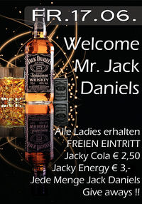 Welcome Mr. jack Daniels !