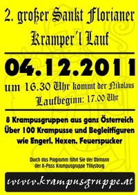 2. groer Kramperl Lauf Sankt Florian