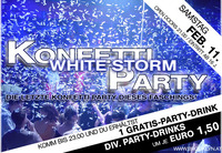 Konfetti Party - White Storm