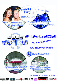 Freaky Boys Night@CLUB Nautica - ehem. Clubschiff Wien