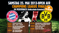 Champions League-open Air Übertragung!