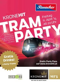 KRONEHIT Tram Party - 11.04.2014 - Jakominiplatz