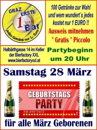 Geburtags Party März