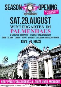 Afrodisiac - Season Opening  Wintergarten im PALMENHAUS  SAT. 29. AUG