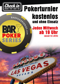 Gratis Poker im Check in Wörgl jeden Mi