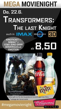 MEGA MovieNight: IMAX Transformers 5 - The Last Knight
