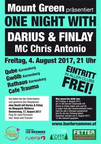 One Night with Darius & Finlay@Hauptplatz Korneuburg