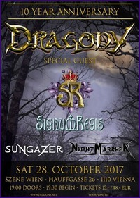 28.10.2017 Dragony 10 Year Anniversary Show + Special Guests