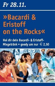 Bacardi & Eristoff on the Rocks